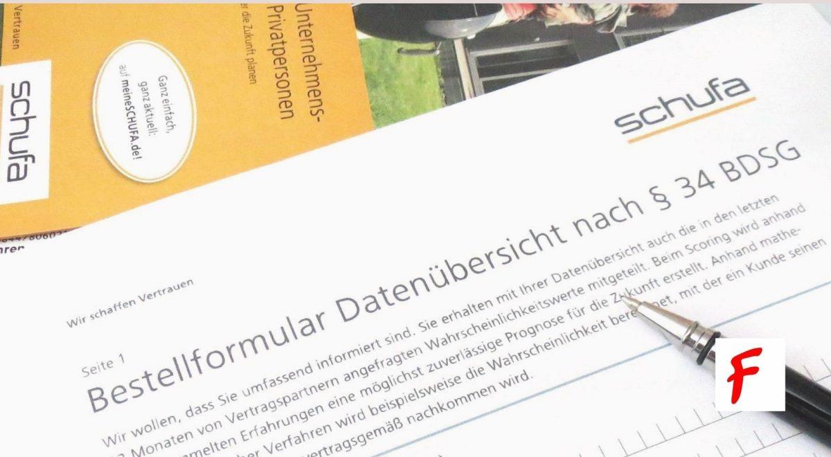 Schufa формуляр
